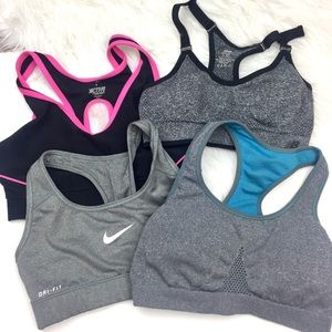 4 Sports Bra BUNDLE! Nike, Active, Jockey, and NB